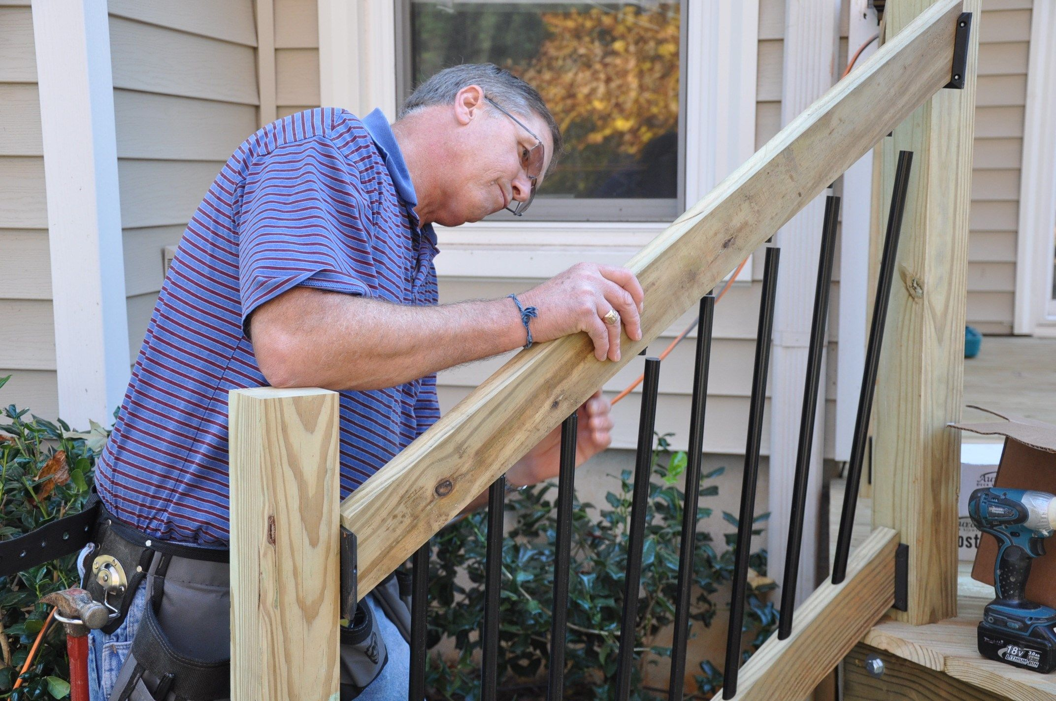 How To Build Stair Handrails For Deck