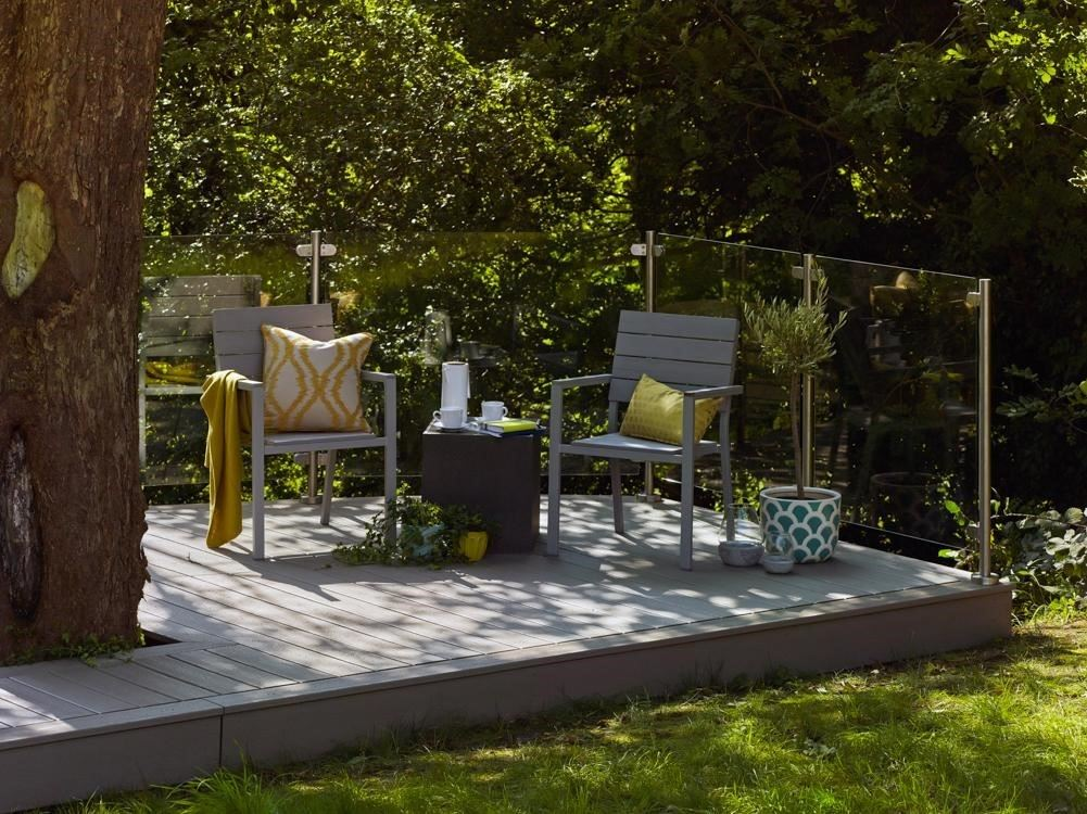 How To Build A Ground Level Deck Decks Com By Trex