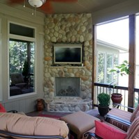 Hip Roof Screened Porch Picture 5279 Decks Com By Trex