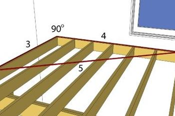 Squaring the deck frame