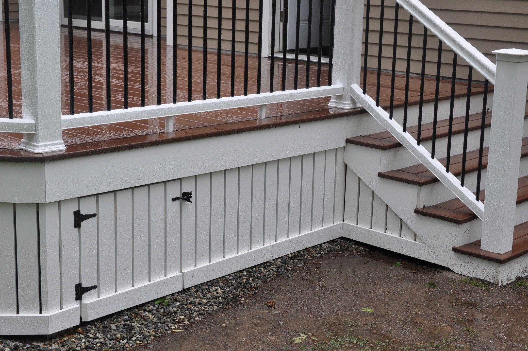 How To Install Deck Skirting Fascia Decks Com Decks Com By Trex