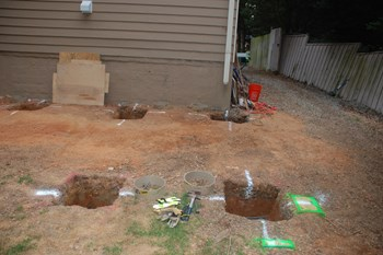Digging Deck Footings